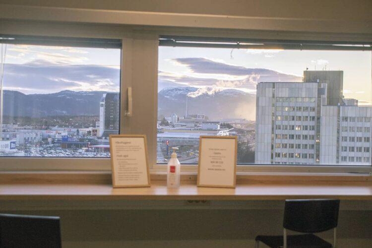 Utsikt fra det ene venterommet